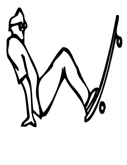 La lettre W du skateur