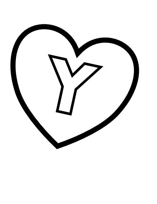 La lettre Y dans un coeur