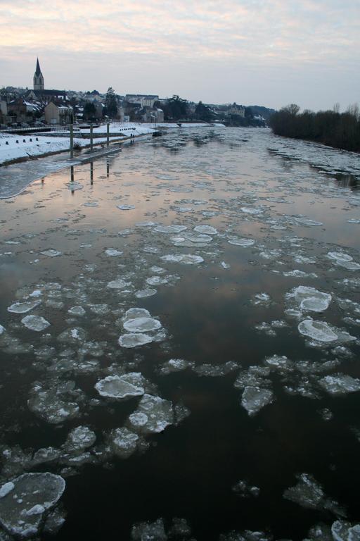 La Loire prise par la glace