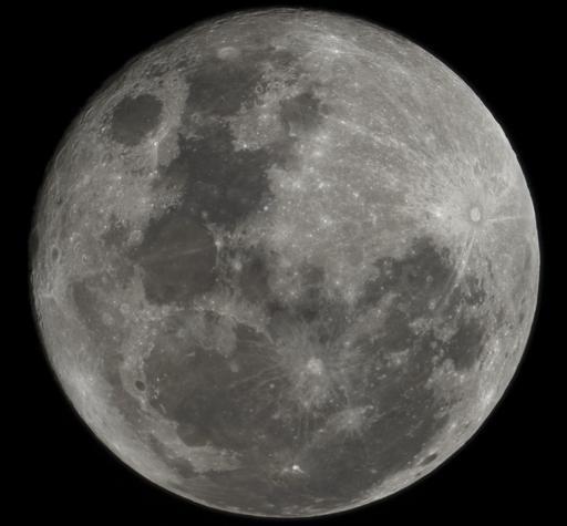 La lune vue depuis l'hémisphère sud