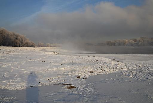 La Moskova sous la neige
