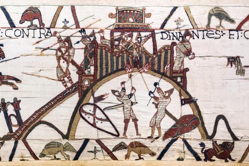 La motte de Dinan sur la tapisserie de Bayeux