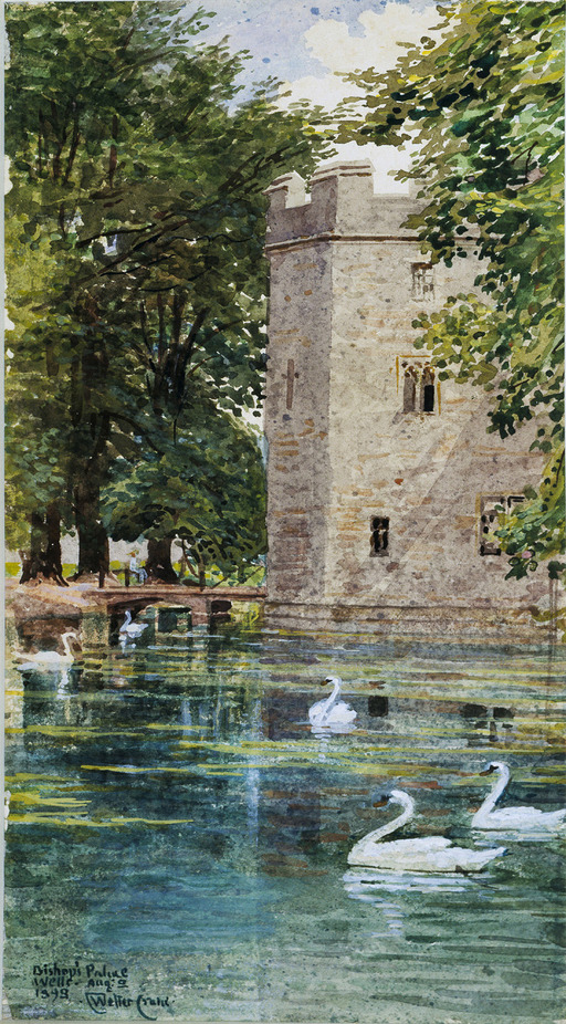 La motte féodale et le palais épiscopal, cathédrale de Wells