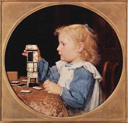 La petite fille aux dominos
