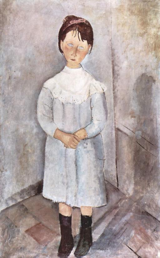 La petite fille en bleu
