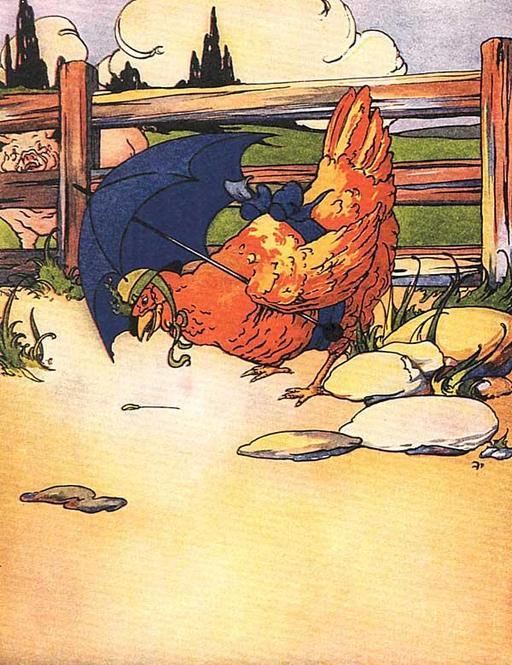La petite poule rousse trouve un grain de blé