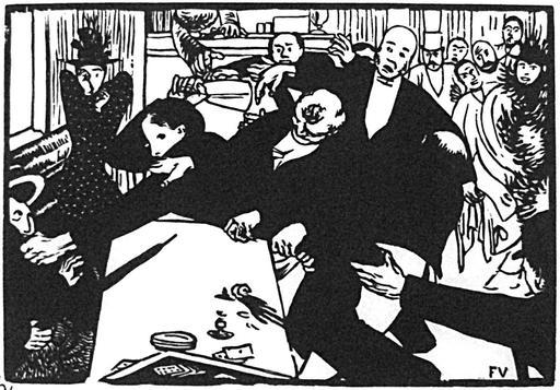 La rixe ou la scène au Café en 1892