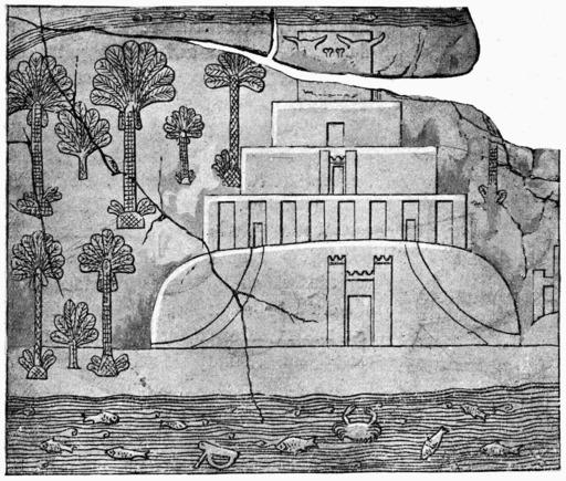 La Tour de Babel d'après un bas-relief assyrien