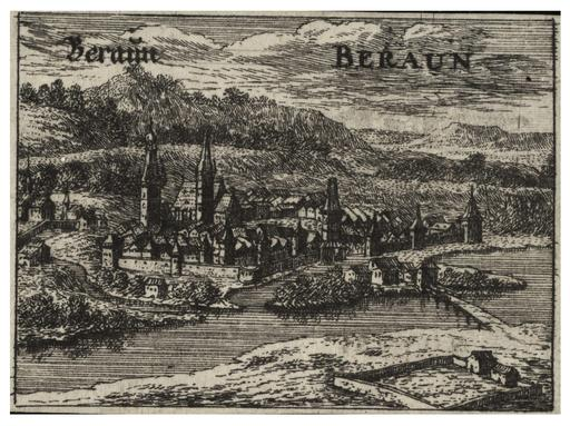 La ville de Beraun en Bohème