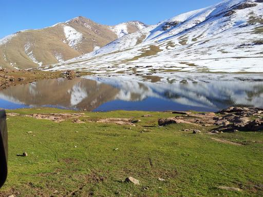 Lac Oukaïmden au Maroc