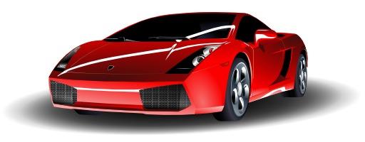 Lamborghini rouge