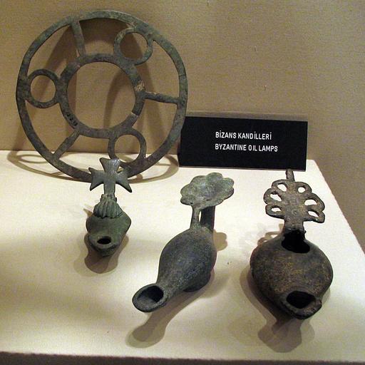 Lampes à huile byzantines en Turquie