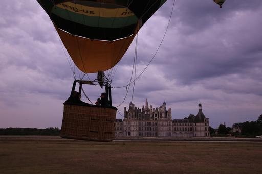 Lancement de montgolfière à Chambord
