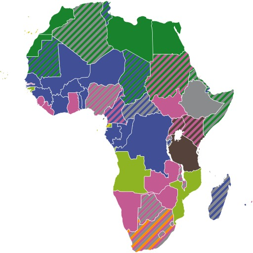 Langues officielles du continent africain