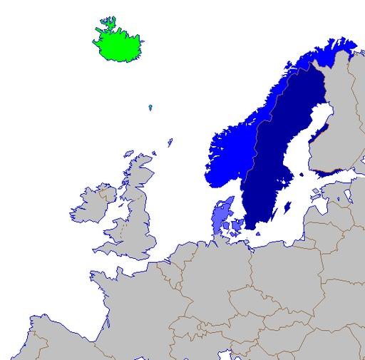 Langues scandinaves en 2007