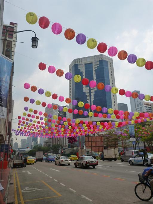 Lanternes suspendues à Singapour