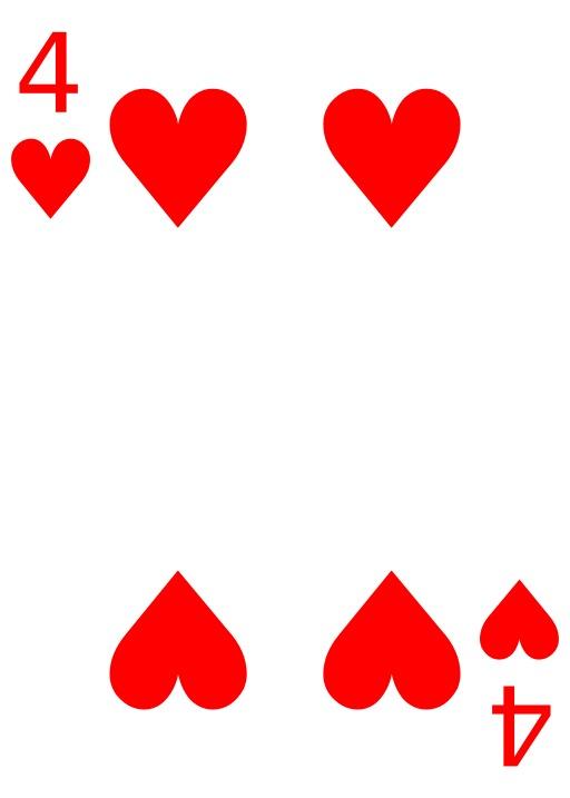 Le 4 de coeur