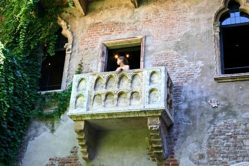 Le balcon de Juliette à Vérone