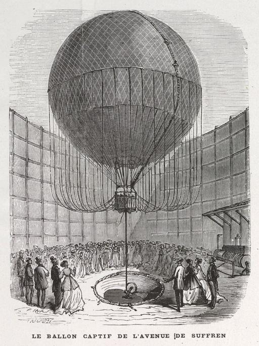 Le ballon captif de l'avenue de Suffren en 1868