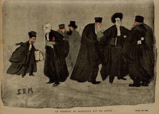 Le Barreau de Marseille en grève en 1900