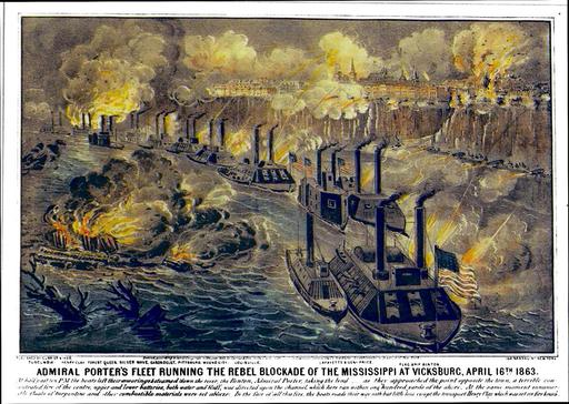 Le blocus de Vicksburg en 1863