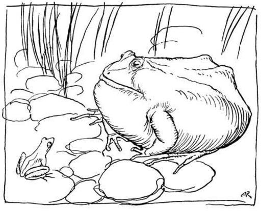 Le boeuf et la grenouille