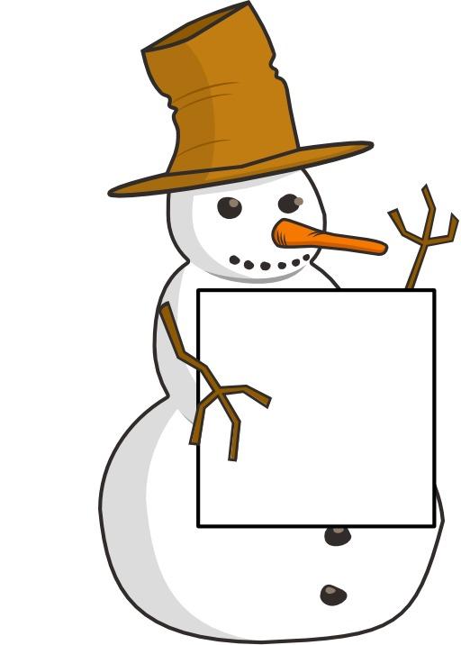 Le bonhomme de neige écrivain