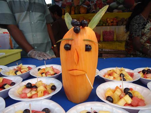 Le bonhomme salade de fruits