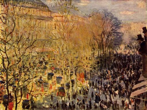 Le boulevard des Capucines à Paris en 1873