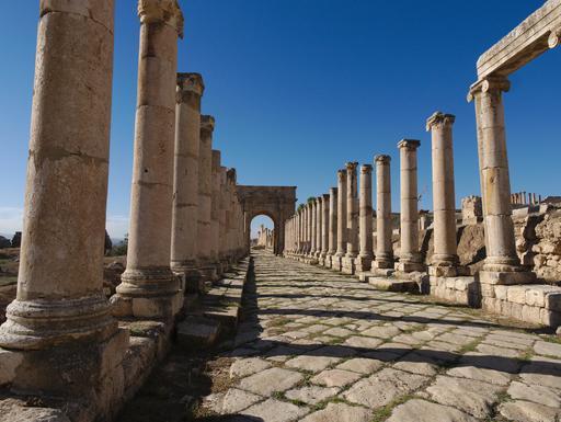 Le Cardo nord à Jerash
