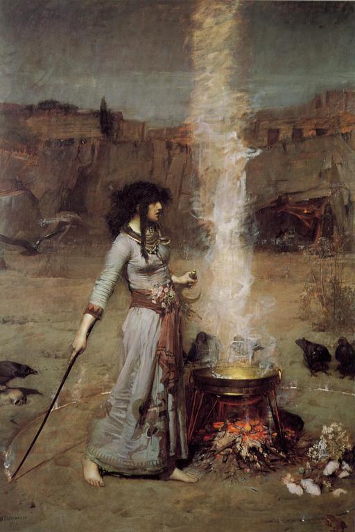 Le cercle magique de la sorcière