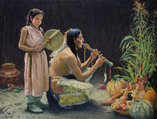 Le chant de la récolte dans une tribu indienne