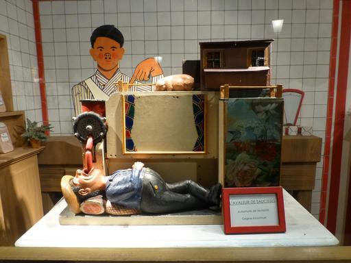 Le charcutier au musée des automates