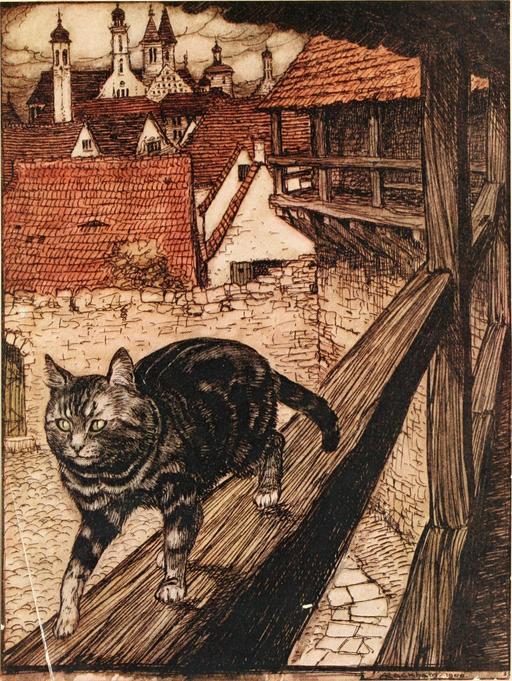 Le chat de la gardeuse d'oies
