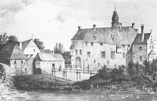 Le château de Vischering en 1840