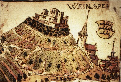 Le château de Weinsberg en 1578