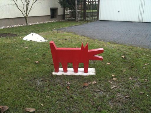 Le chien rouge de Keith Haring