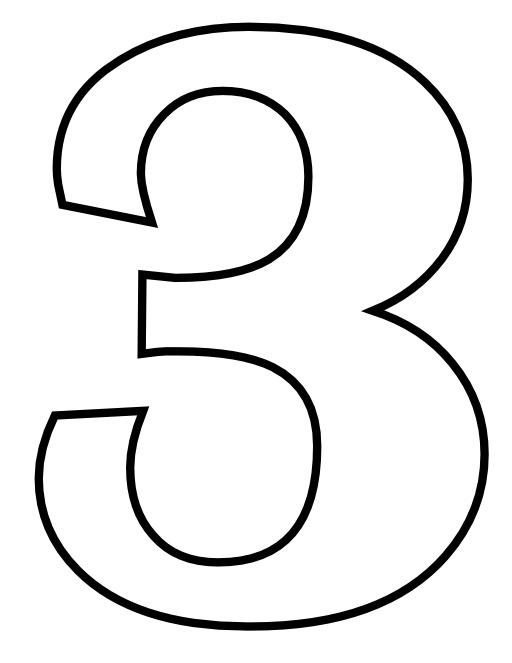 Le chiffre 3 à colorier