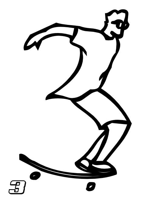 Le chiffre 3 du skateur