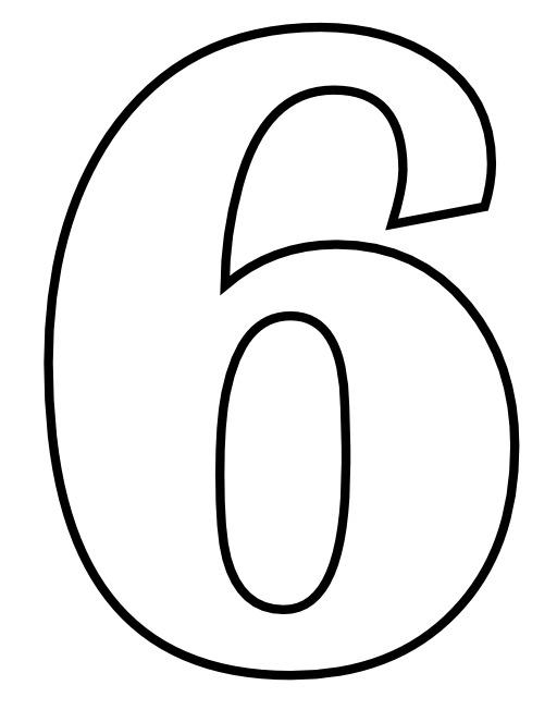 Le chiffre 6 à colorier