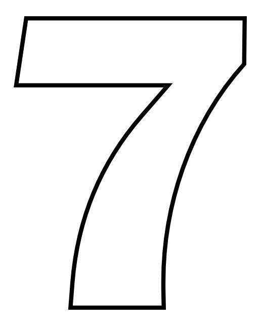 Le chiffre 7 à colorier