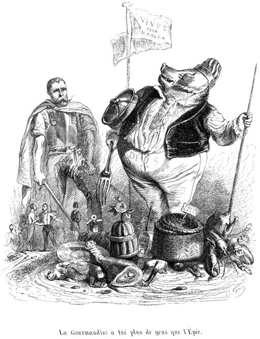Le cochon et la gourmandise