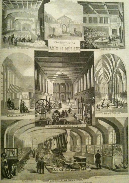 Le Conservatoire national des arts et métiers en 1863