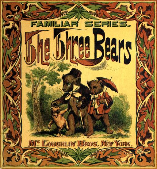Le conte anglais des trois ours en 1888, couverture