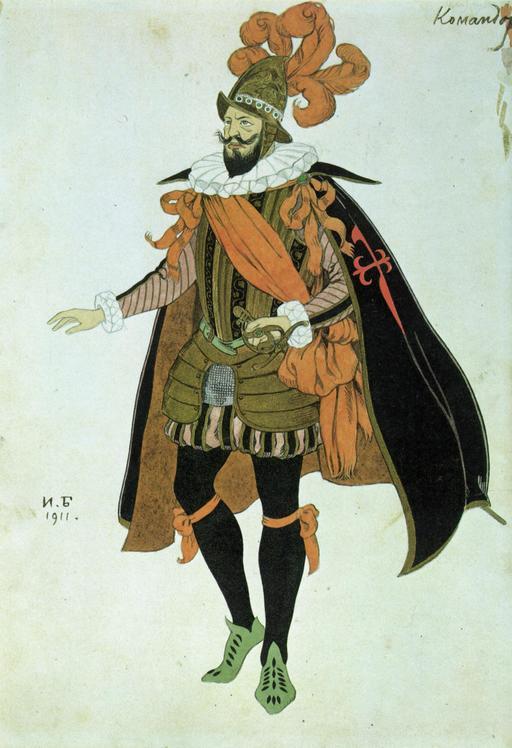 Le costume du Commandeur de Lope de Vega
