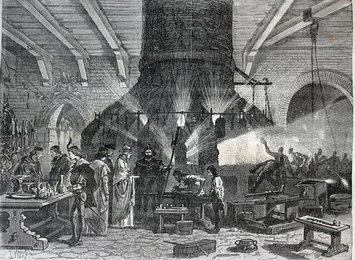 Le doge de Venise visitant les verreries de Murano en 1873