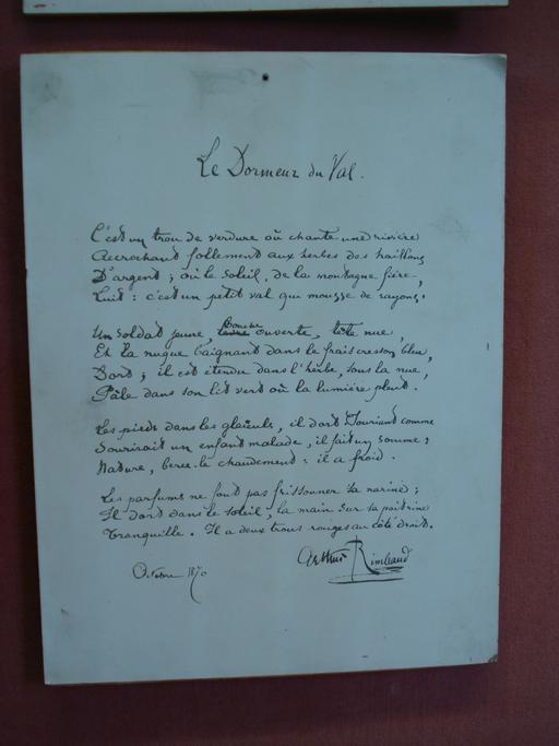 Le dormeur du Val de Rimbaud