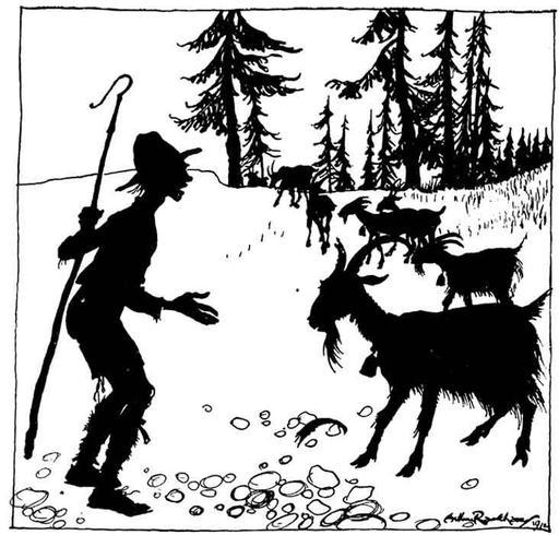 Le gardien de troupeau et la chèvre