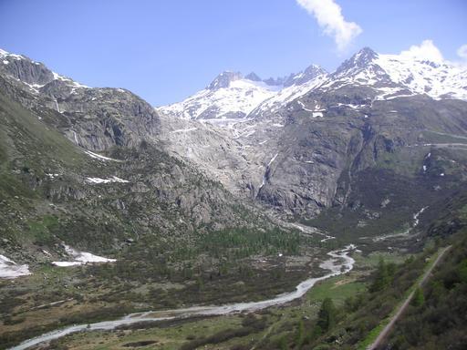 Le glacier du Rhône en mai 2005