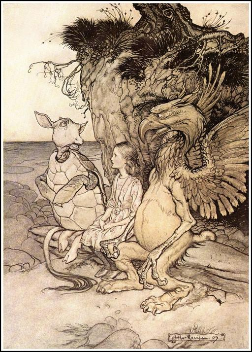 Le griffon et la tortue d'Alice
